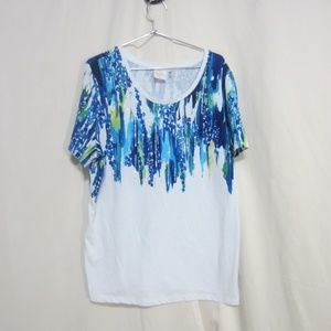 Rafaella Sport XL, rhinestone splashed top